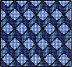 Optical illusion X-stitch digital cross stitch long by Katiechui