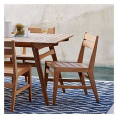 West Elm West Elm Mid-Century Outdoor Dining Chair, Teak - Outdoor... ($200) ❤ liked on Polyvore featuring home, outdoors, patio furniture, outdoor chairs, brown, outdoor furniture, outside patio furniture, mid century outdoor chairs, west elm outdoor furniture and outside patio chairs