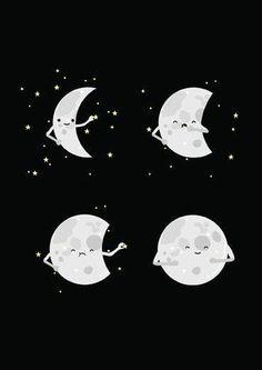 Luna llena y luna menguante nunca dejas de ser un testigo fiel en lo mínimo y fiel en lo mucho, tu blancura te da esplendor mientras el sol esta detrás de ti dándote su luz.