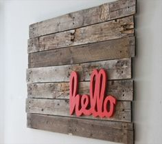 DIY Pallet Wall Art Project Tutorials Are you looking to create some spectacular wall art for your home decor? Try one of these DIY pallet wall art projects to add some rustic personal style. Diy Pallet Wall, Wood Pallet Art, Pallet Crafts, Wood Pallets, Wood Art, Wood Crafts, Pallet Ideas, Pallet Walls, Pallet Furniture