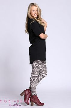 You are going to love these amazing print leggings. They are super stylish and this season's trendiest item.