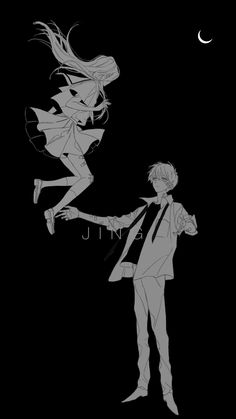 If i jump will you catch me? Anime Couples Drawings, Anime Couples Manga, Cute Anime Couples, Anime Guys, Manga Drawing, Manga Art, Anime Chibi, Manga Anime, Manhwa
