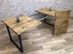 Square Kitchen Tables, Square Tables, Dining Table In Kitchen, Reclaimed Dining Table, Industrial Dining, Modern Extendable Dining Table, Pine Table, Under The Table, Table Furniture
