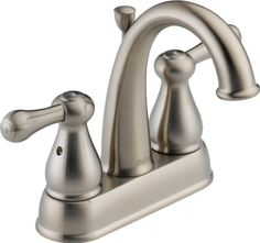 Bathroom Faucets DIY | Delta 2575LFSS Leland Two Handle Centerset Bathroom Faucet Stainless *** More info could be found at the image url. Note:It is Affiliate Link to Amazon.