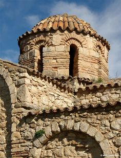 """""""The church of the Panagia Serviotissa in Stylos was built in the late century (second Byzantine period) by monks from Patmos. Byzantine Architecture, Art And Architecture, Byzantine Art, Hagia Sophia, Cathedral Church, 11th Century, Crete, Abandoned Places, Mount Rushmore"""