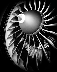 Blades from a 777-300 Engine