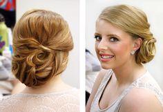 Bridal Side Hair Upstyle     By Katie Dawson  www.perlejewellerymakeup.com.au