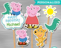 Peppa Pig Invitation DIY Peppa Pig Birthday por berryniceprintables