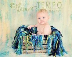 Peacock Baby Photography Prop Fringe Blanket and by BabyBirdz, $95.00