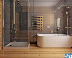 Proiect-de-casa-mica-Parter-64011-11 Beautiful House Plans, Beautiful Homes, Bathtub, How To Plan, Bathroom, Projects, Mica, Design, Prefab Homes
