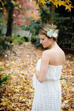 Ruffle Maternity Dress Ivory Ruffle Fabric Maternity by PunteBella