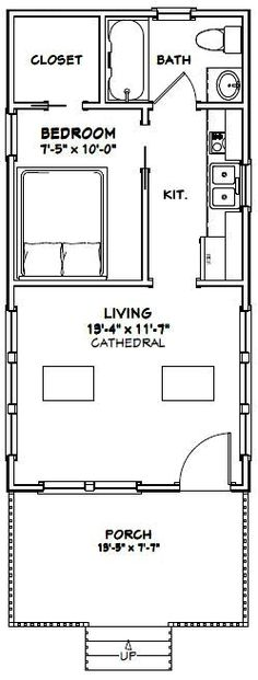 Build ANY Shed In A Weekend - Tiny House -- Ft. -- - Excellent Floor Plans Our plans include complete step-by-step details. If you are a first time builder trying to figure out how to build a shed, you are in the right place! Garage Floor Plans, Small Floor Plans, Cabin Floor Plans, Small House Plans, Shed House Plans, Tiny House Layout, Tiny House Design, House Layouts, Tiny House Shed