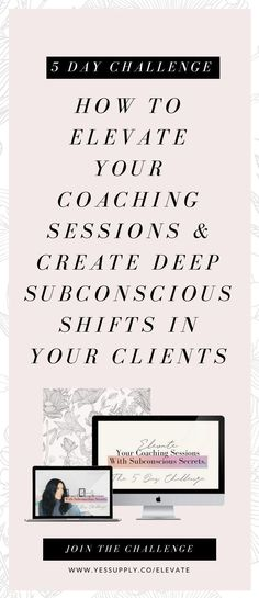 Dreaming of becoming a powerful coach? Lightworker? Healer? Entrepreneur? Ever wanted to learn more about NLP, Hypnosis, EFT, and Energy work? Do you want to stand out, become a coach with a successful online business and you just need the tools and strategies to get started and build your audience, while feeling confident about your knowledge? You're in the right place. Head to www.yessupply.co/elevate and sign up for the FREE 5 Day Challenge to help you elevate &, stand out. Much love,