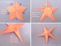 Как сделать из бумаги 3D звезду / Мастер-класс