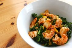 K is for Kale! Eat, Love, and Be Merry.: Citrus Shrimp and Kale Salad