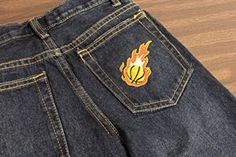 Embroidery on shirt/pant pockets via Embroidery Library