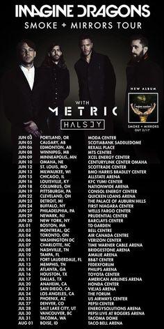 Imagine Dragons smoke + mirrors tour dates