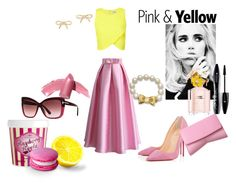 """""""Stella pink lime cocktail"""" by xrisou-litta on Polyvore featuring Miss Selfridge, Christian Louboutin, Narciso Rodriguez, ASOS, Chicwish, Marc Jacobs, Kate Spade, Tom Ford, Elizabeth Arden and Lancôme"""