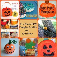 Fun Children's Pumpkin Crafts & Activities