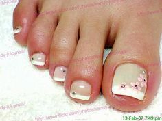 Taupe Polish with Grench Tips Pedicure Designs, Pedicure Nail Art, Toe Nail Designs, Nail Polish Designs, Toe Nail Art, Nails Design, Fabulous Nails, Perfect Nails, French Nails