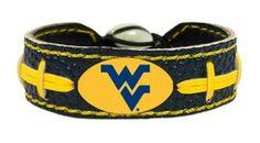 West Virginia Mountaineers Bracelet - Team Color Football