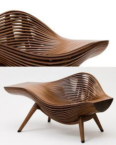 Korean artist Bae Se-hwa started generating blog buzz following the appearance of his Steam 11 walnut chair at this year's Art Basel, but that was the only piece of his many of us had ever seen. #organic #bench