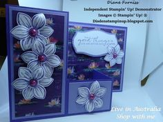 #24  Square Z Fold Card 2 Using Stamping up Products - YouTube