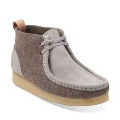 Womens Wallabee Boot Light Grey Felt - Clarks Womens Shoes - Womens Heels and Flats - Clarks - Clarks® Shoes