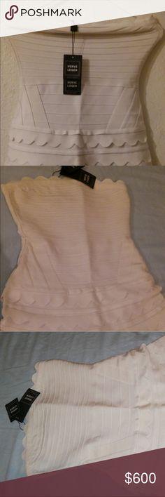 Herve Leger Dress NWT. Cream White Dress. Herve Leger Dresses Mini