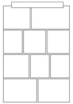 Blank Comic Book, Comic Book Layout, Comic Books, Comic Tutorial, Manga Tutorial, Comic Strip Template, Comic Strips, Bd Art, Bullet Journal Lettering Ideas