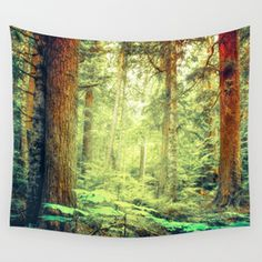 Morning Trees Wall Tapestry