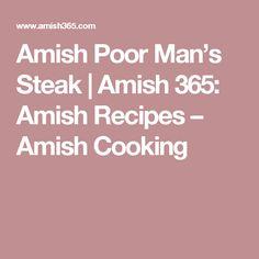 Amish Poor Man's Steak   Amish 365: Amish Recipes – Amish Cooking