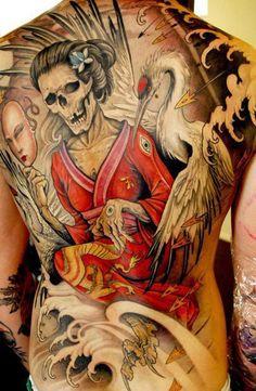 Awesome Japanese theme tattoo. #tattoo #tattoos #ink