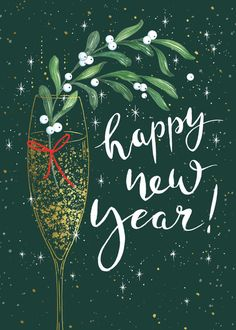 Leading Illustration & Publishing Agency based in London, New York & Marbella. Happy New Year Images, Happy New Year Wishes, Happy New Year Greetings, Holiday Wishes, Christmas Wishes, Christmas Art, Christmas And New Year, Vintage Christmas, Happy New Year Wallpaper