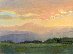 Orange Sky by Kath Reilly Oil ~ 9 x 12