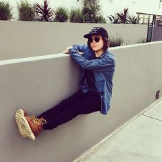 Ellen Page hanging out in the On The Grind boots.