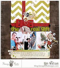 kim watson ★ paper crafts ★ designs: Christmas layout + a FREE cut-file!