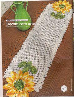 Wilma Crochê: Caminho de mesa de crochê 02
