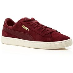 Puma Lace Up Sneakers - Vashtie x Puma States ($63) ❤ liked on Polyvore featuring shoes, sneakers, burgundy, puma trainers, lacing sneakers, laced up shoes, lace up shoes and puma sneakers