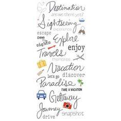 Handwritten Travel Stickers