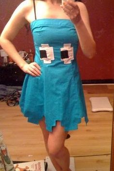Pacman Inky Dress - Abbie?!! This is much cuter than ours but we would have froze!!