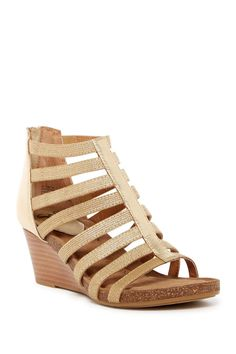 Mati Caged Wedge Sandal
