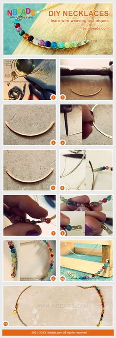 diy necklaces - learn wire weaving techniques