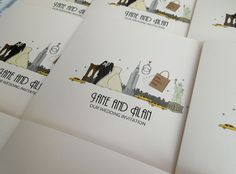 New York Themed Wedding Invitations In Ivory Featuring The Iconic Nyc Skyline Available On