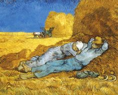 La siesta (da Millet) - 1890 - Van Gogh - Opere d'Arte su Tela - Listino prodotti - Digitalpix - Canvas - Art - Artist - Painting