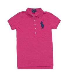 Ralph Lauren Women The Skinny Polo Big Pony Logo T-shirt (M, Pink/navy) Ralph Lauren. $59.99