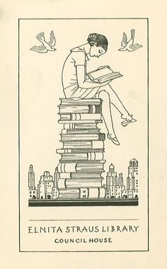 rockwell kent elnita straus library bookplate 1936