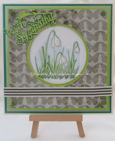 Tinyrose's Craft Room: Snowdrop Sympathy Card made with the Snowdrop Elements stamps designed by John Lockwood for Creative Expressions