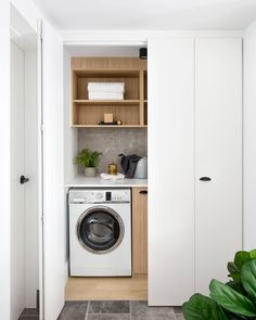 Who would've thought a laundry cupboard could be such a feast for the eyes? Fantastic Farmhouse Stylish and Functional Small Laundry Rooms ideas for home decorating interior decor ideas Laundry Cupboard, Laundry Nook, Small Laundry Rooms, Laundry Closet, Laundry Room Organization, Laundry In Bathroom, Bathroom Pink, Bathroom Marble, Bathroom Ideas