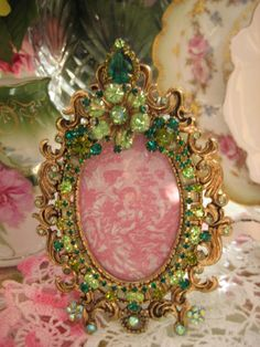 Emerald Green Jeweled Picture Frame